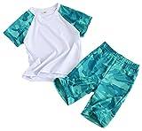 Coralup Conjunto de ropa para niños y niñas, conjunto de ropa deportiva de...