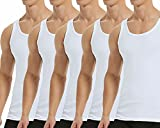 Falechay Camiseta Tirantes para Hombre Pack de 5 de Algodón 100% Camisetas...