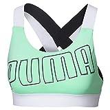 Puma Feel It W Mid Impact Sujetador Deportivo, Mujer, Verde (Green Glimmer...