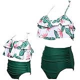 ChayChax Traje de Baño Mujer Niñas Lindo Conjunto de Bikini Madre e Hija...