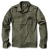 Brandit US Hemd Langarm Camisa, Olive, 3XL para Hombre