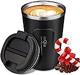 eeQiu Taza de café para Llevar 13oz 100% a Prueba de Fugas - Taza de Viaje de...