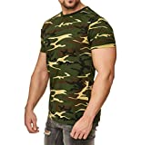 Camiseta de camuflaje militar, color verde verde XX-Large