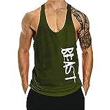 Cabeen Beast Camisetas sin Mangas Elástica de Fitness Hombre Deportiva...