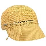 Seeberger Gorra Uni Rollable Crochet de Verano Mujer (Talla única - Amarillo)