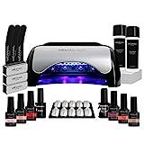 Lampara UV y LED 48W - Set Completo Secador de Uñas Gel Manicura y Pedicura -...