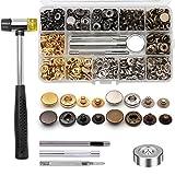 Ailiver - Botones de presión de metal, 120 sets de 4 colores, cierre de...