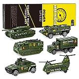 XDDIAS Vehículo Militar Juguete, 6 Pcs Mini Modelos Coche Militar de Juguete,...