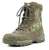 Botas Mil-Tec Tactical con cremallera YKK, para trekking, de montaña,...