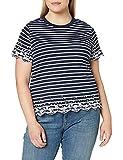 Superdry Summer Schiffli tee Camiseta sin Mangas, Azul (Navy Stripe Jkc), XS...