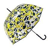 GOTTA Paraguas Transparente Largo de Mujer con Forma de cúpula. Antiviento y...