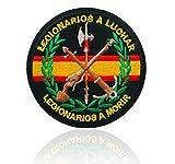 BANDERA DEL PARCHE BORDADO PARA PLANCHAR O COSER (Emblema Militar Legionario...