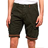 Superdry Core Cargo Lite Short Pantalones Cortos, Verde (Olive AOP Q2v), 48...
