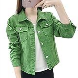 SHENSHI Denim Jacket Mujer,Chaquetas Básicas Abrigos Mujer Abrigo Corto...