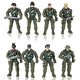 Hautton 8 pcs. Conjunto de Hombres del Ejército de Juguete Figuras de Acción...