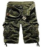 AYG Bermudas Cargo Vintage Pantalon Corto Trabajo Hombre Camuflaje Pantalones...