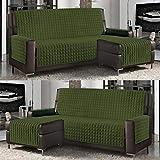 Banzaii Funda de Sofá Cubre Chaise Longue Acolchada Lisa 3 Plazas (240 cm) con...