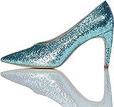 find. Zapatos de Brillantina Mujer, Verde (Aqua), 38 EU