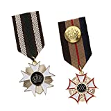 IPOTCH 2 Piezas De Medalla De Tela Medallón Insignia Hombres Mujeres Cospaly...