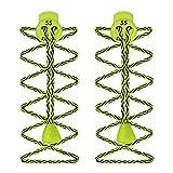 55 Sport Cordones Elásticos para Zapatillas de Deporte - Verde Lima Zig Zag