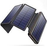 SWEYE Cargador Solar Móvil 26800mAh,【4 Paneles Solares Desmontable/Type-C...