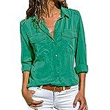 SHOBDW Moda para Mujer Casual Cuello con Solapa Camiseta Oficina Señoras Camisa...