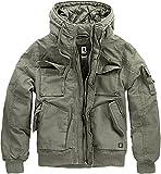 Brandit Bronx Hombre Chaqueta de Invierno Aceituna M, 100% algodón, Regular
