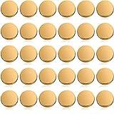 Chuangdi 30 Botones Planos Metálicos Botón de Vástago de Aleación Botón...