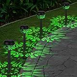 OOWOLF 4 Pack Luces Solares Exteriores, Impermeable IP65 Jardín Lámpara de...