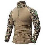 LiliChan Menlong manga táctico Camisa militar de combate al aire libre camisa...