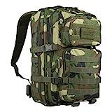 US Assault Pack - Mochila, color woodland, tamaño Farbe
