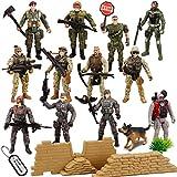 JOYIN Juego de 16 piezas de soldados de juguete militar, figuras de hombres del...