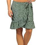 Only Onlolivia Wrap Skirt Wvn Noos Falda, Verde Chino/AOP: Foco Negro, S para...