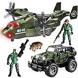 JOYIN Juego de Juguete de vehículo Militar de avión de Transporte y camión...