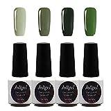Serie Verde, Joligel Kit 4x Esmaltes Semipermanentes Shellac para Uñas de Gel...