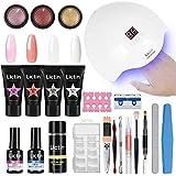 Lictin kit Lampara Uñas de Gel-Lámpara Secador de Uñas UV/LED con 4 * 15ml...