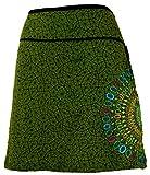 GURU-SHOP, Mini Falda, Falda de Verano, Falda Hippie, Falda Goa, Verde,...