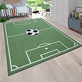 Alfombra Infantil Juego para Dormitorio Niños Diseño Campo De Fútbol En...
