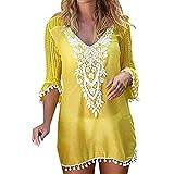 Verano Camisolas y Pareos para Mujer, Dragon868 Blusa Vestido Túnica Crochet de...