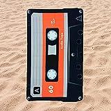 BE CRAZY THE BRAND Toalla de Playa Microfibra Forma de Cassette - Fabricado en...