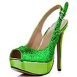 CHMILE CHAU-Zapatos para Mujer-Bombas de Tacon Alto de Aguja-Talón...