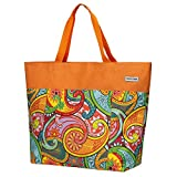 Anndora XXL Shopper - Bolsa de playa, para la compra, de hombro, Color naranja....