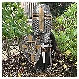 Caballero Gnomos Guardia, estatuilla de la Cruz Templaria, Traje Alto 1/8 Piezas...