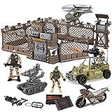 JOYIN Juguetes de Combate Militar Que Incluye Base Militar, Vehículos...