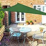 OKAWADACH Toldo Vela de Sombra Triangular 2 x 2 x 2m, protección Rayos UV...