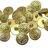 Chenkou Craft Botón de plástico chapado en oro Color 20mm 60pcs