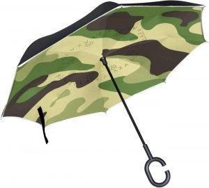 Paraguas verdes de camuflaje y verde militar