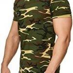camiseta verde militar hombre