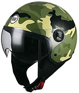 casco moto verde camuflaje