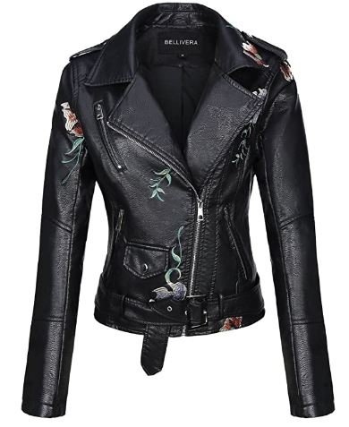 chaqueta de mujer piel sintética